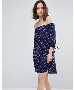 Influence | Платье С Широким Вырезом И Манжетами На Завязках