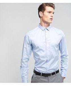 Asos | Голубая Эластичная Приталенная Рубашка Tall
