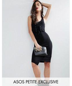 ASOS PETITE | Облегающее Платье С Корсетом На Талии
