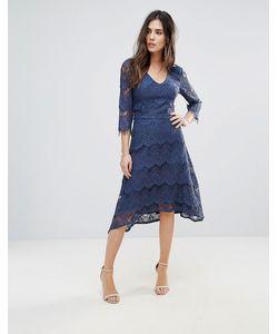 Soaked In Luxury | Кружевное Платье Миди