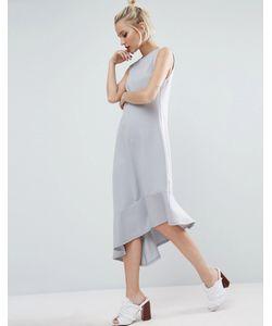 Asos | Платье С Асимметричным Подолом Premium