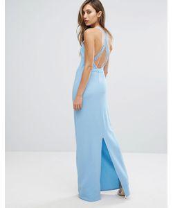 Club L | Платье Макси С Кружевной Отделкой На Спине