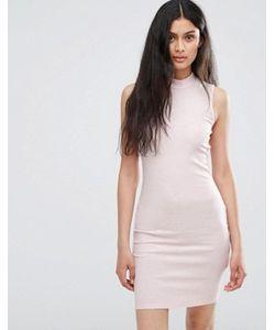 Only | Розовое Облегающее Платье