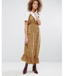 STYLE NANDA   Платье На Бретельках С Завязками И Цветочным Принтом Stylenanda