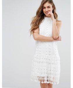 MISSGUIDED | Ажурное Цельнокройное Платье С Заниженной Талией