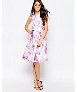 True Violet | Платье С Большой Оборкой И Цветочным Принтом
