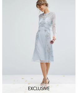 Amelia Rose | Платье Миди С Отделкой И Съемным Кроп-Топом