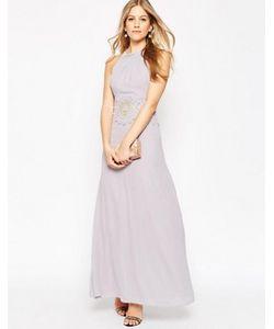Asos | Вечернее Платье Макси С Кружевной Вставкой