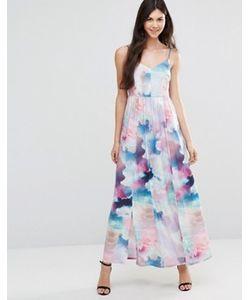 Yumi | Платье Макси С Цифровым Принтом Облаков