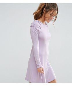 ASOS PETITE | Короткое Приталенное Платье В Рубчик В Стиле 80-Х