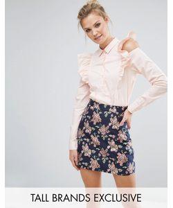 Fashion Union Tall | Рубашка С Оборками На Плечах
