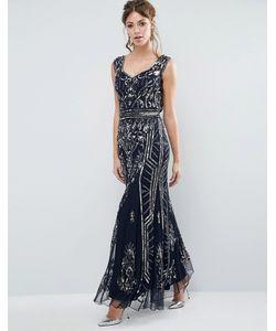 Frock and Frill | Платье Макси С Отделкой И Глубоким Вырезом Сзади
