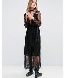 Glamorous | Кружевное Платье Миди