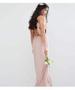 TFNC Petite | Платье Макси С Плиссировкой И Открытой Спиной Wedding
