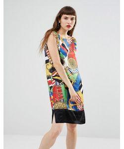 Love Moschino | Платье С Принтом И Глубоким V-Образным Вырезом На Спине