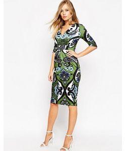 Asos | Платье С V-Образным Вырезом И Крупным Принтом