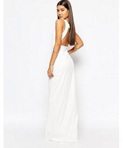 AQ AQ | Платье Макси С Квадратным Вырезом Сзади Aqaq Yenan