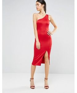 AX Paris | Платье Миди На Одно Плечо С Разрезом До Бедра