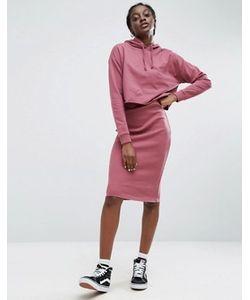 Asos | Трикотажное Платье Миди 2 В 1 С Капюшоном