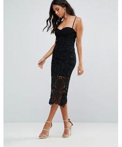 FOREVER UNIQUE | Маленькое Черное Платье С Кружевной Отделкой