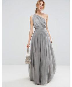 Asos | Платье Макси На Одно Плечо Из Тюля Premium