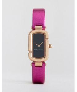Marc Jacobs | Часы С Розовым Кожаным Ремешком Металлик