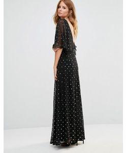 Millie Mackintosh | Платье Макси С Золотистой Отделкой
