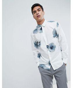 89ba424817615c9 Selected Homme - Приталенная Рубашка С Цветочным Принтом
