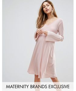 Bluebelle Maternity | Fluted Sleeve Shift Dress