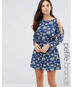 Yumi Petite | Платье С Вырезами На Плечах И Цветочным Принтом