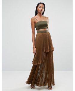 AQ AQ | Платье Макси 2 В 1 С Плиссированной Юбкой Aq/Aq