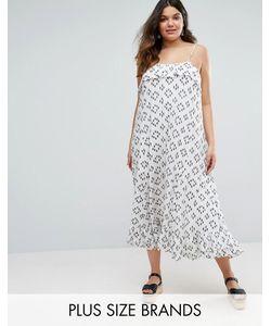 Diya | Plus Maxi Dress With Overlay Top