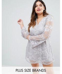 AX Paris | Кружевное Платье С Расклешенными Рукавами Plus