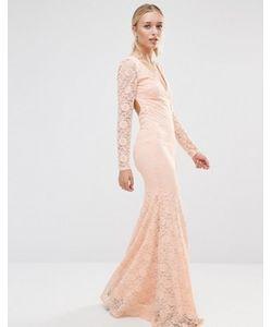 City Goddess | Кружевное Платье С Длинными Рукавами И Открытой Спиной