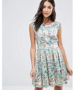 Closet London | Платье С Лиственным Принтом И V-Образным Вырезом Сзади Closet