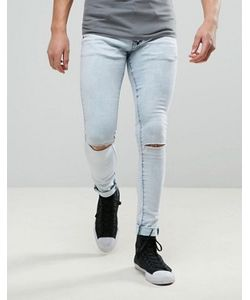 Liquor & Poker | Extreme Skinny Jean Knee Rip Light Bleach