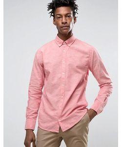 BOSS Orange | Приталенная Рубашка На Пуговицах Из 2-Цветной Ткани By Hugo