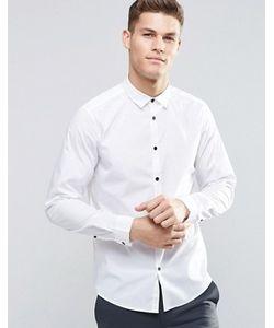 Asos | Рубашка Классического Кроя С Длинными Рукавами И Контрастными Пуговицами