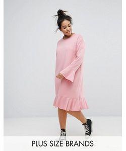 Pink Clove | Платье А-Силуэта С Оборкой