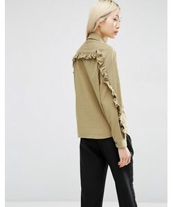 Asos | Повседневная Рубашка С Оборками На Рукавах