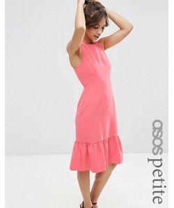ASOS PETITE | Платье С Оборкой На Подоле