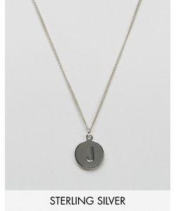 Fashionology   Серебряное Ожерелье С Инициалом J