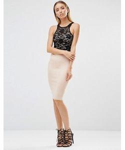 AX Paris | Платье Миди С Кружевной Отделкой