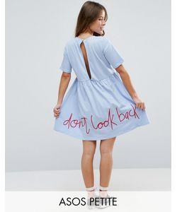 ASOS PETITE | Свободное Платье С Вышивкой Сзади