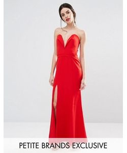 Jarlo Petite | Платье Макси С Глубоким Вырезом Сердечком Спереди Helena