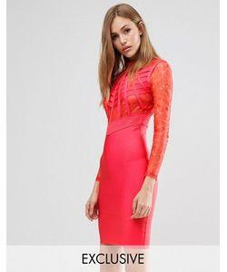 WOW Couture | Бандажное Платье С Кружевом