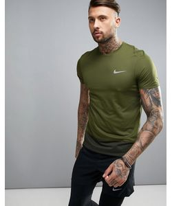 Nike Running | Зеленая Футболка Breathe 833608-331