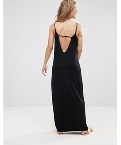 Asos   Платье Макси С V-Образным Вырезом На Спине