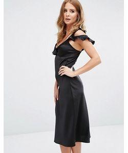 Millie Mackintosh | Платье-Комбинация Миди С Оборкой