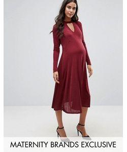 Bluebelle Maternity | Платье Миди С Бантиком Для Беременных